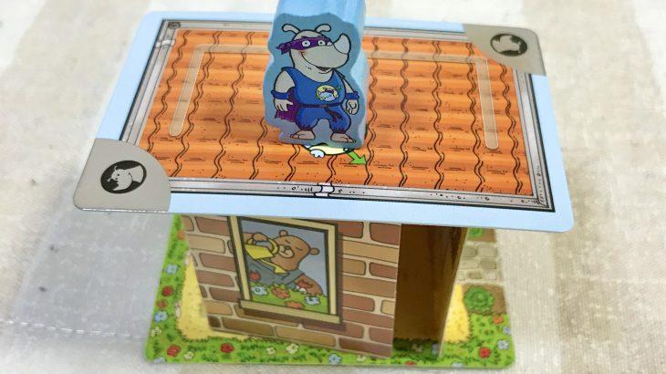 【カードゲーム】息子と実際に『キャプテン・リノ / Rhino Hero』で遊んでみた感想